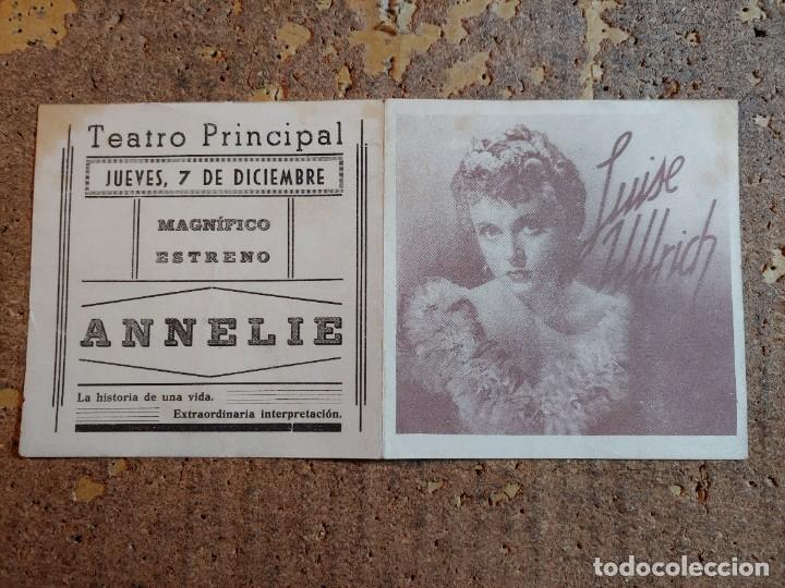 Cine: FOLLETO DE MANO DOBLE DE LA PELICULA ANNELIE - Foto 3 - 277070143
