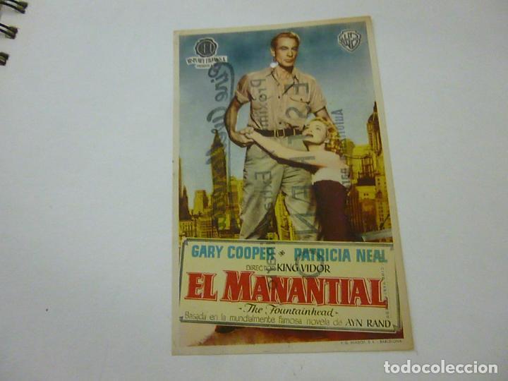 EL AMNANTIAL -CON PUBLICIDAD - C 10 (Cine - Folletos de Mano - Drama)