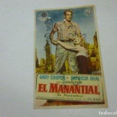 Cine: EL AMNANTIAL -CON PUBLICIDAD - C 10. Lote 277070168