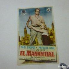 Cine: EL AMNANTIAL -CON PUBLICIDAD - C 10. Lote 277070203