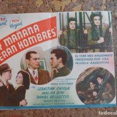 Cine: FOLLETO DE MANO DOBLE DE LA PELICULA Y MAÑANA SERAN HOMBRES. Lote 277070538