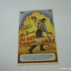 Cine: NO HAY TIEMPO DE AMAR -CON PUBLICIDAD - C 10. Lote 277070613