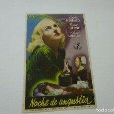 Cine: NOCHE DE ANGUSTIA -CON PUBLICIDAD - C 10. Lote 277070823