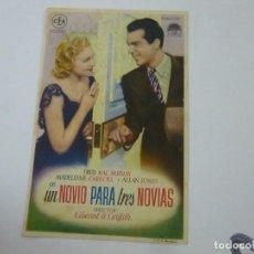 Cine: UN NOVIO PARA TRES NOVIAS -CON PUBLICIDAD - C 10. Lote 277070943