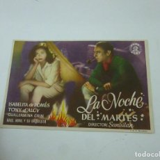 Cine: LA NOCHE DEL MARTES -SIN PUBLICIDAD - C 10. Lote 277071348
