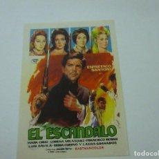 Cine: EL ESCANDALO - ESPARTACO SANTONI -CON PUBLICIDAD - C 10. Lote 277071933
