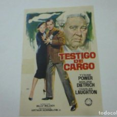 Cine: TESTIGO DE CARGO -SIN PUBLICIDAD - C 10. Lote 277072043