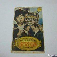 Cine: LA TRAGEDIA DE LA BOUNTY-CON PUBLICIDAD - C 10. Lote 277072503