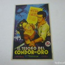 Cine: EL TESORO DEL CONDOR DE ORO-CON PUBLICIDAD - C 10. Lote 277072773