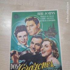 Cine: FOLLETO DE MANO DOS CORAZONES EN HEIDELBERG , BIBI JOHNS . 1962. Lote 277096633