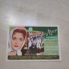 Cine: FOLLETO DE MANO MUSICA DE AYER , ANA MA OLARIA , 1959. Lote 277096968
