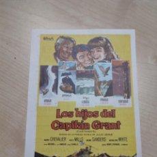 Cine: FOLLETO DE MANO LOS HIJOS DEL CAPITAN GRANT , MAURICE CHEVALIER , 1964. Lote 277098838