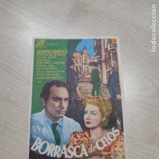 Cine: FOLLETO DE MANO BORRASCA DE CELOS , ADRIANO RIMOLDI , 1952. Lote 277099438