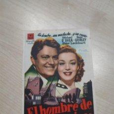 Cine: FOLLETO DE MANO EL HOMBRE DE SAN FRANCISCO , MICHAEL O'SHEA ,. Lote 277100418