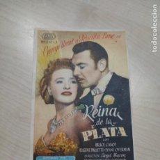 Cine: FOLLETO DE MANO REINA DE LA PLATA , GEORGE BRENT ,. Lote 277100753