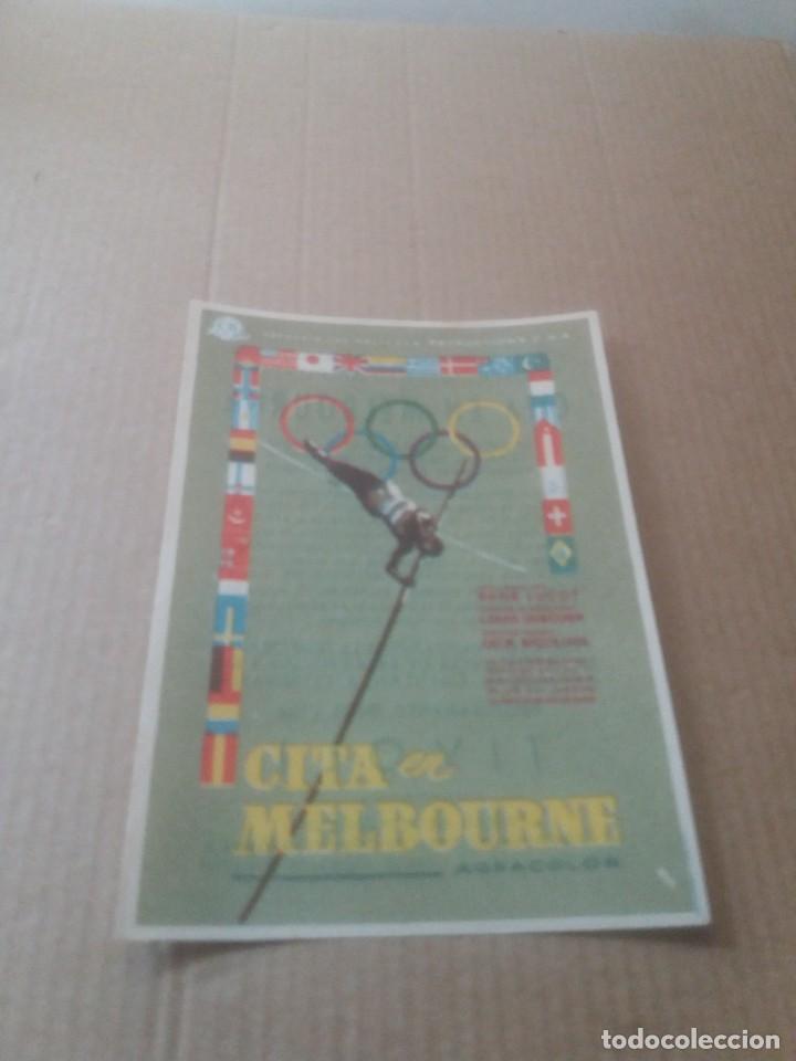 CITA EN MELBOURNE CON PUBLICIDAD CINE TIVOLI (Cine - Folletos de Mano - Deportes)