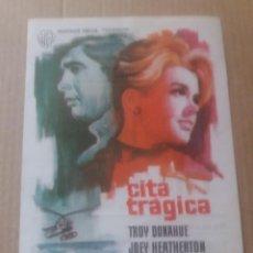 Cine: CITA TRAGICA CON PUBLICIDAD CINE NÁPOLES BARCELONA. Lote 277130943