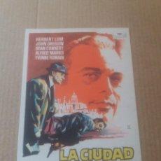 Cine: LA CIUDAD BAJO EL TERROR. Lote 277132053