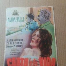 Cine: CANTO A LA VIDA CON PUBLICIDAD CINE GOYA. Lote 277146158
