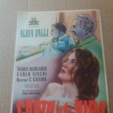 Cine: CANTO A LA VIDA. Lote 277146318