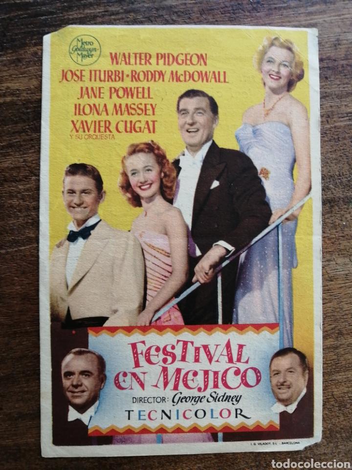 PROGRAMA FESTIVAL EN MEJICO (Cine - Folletos de Mano - Drama)
