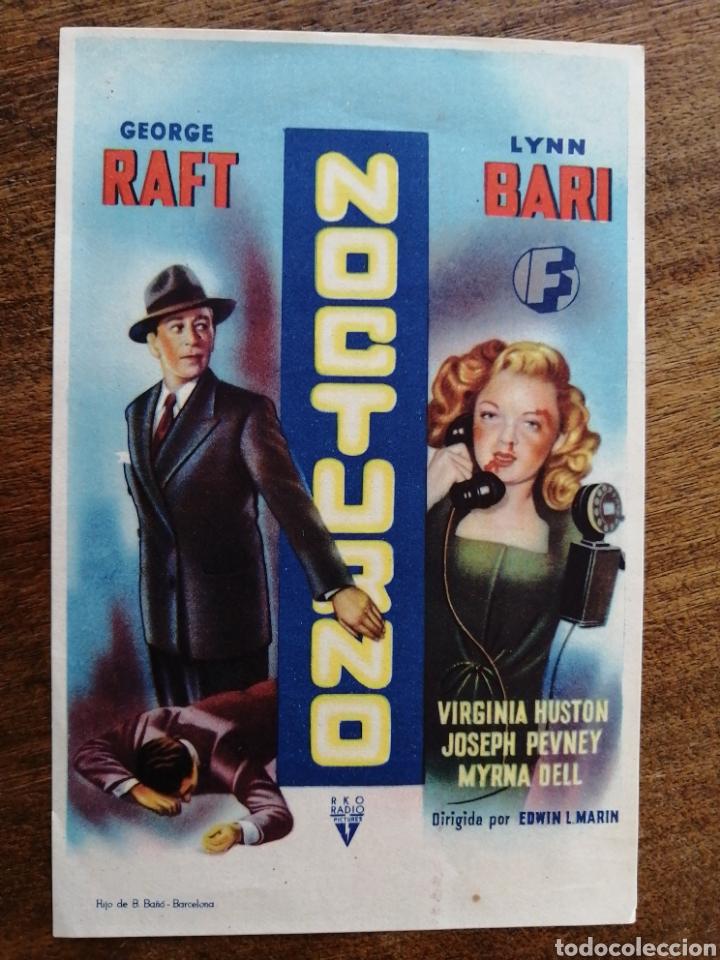 PROGRAMA ORIGINAL NOCTURNO, GEORGE RAFT (Cine - Folletos de Mano - Drama)