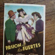 Cine: PROGRAMA PASION DE LOS FUERTES, HENRY FONDA. Lote 277156668