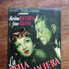 Cine: PROGRAMA LA BELLA EXTRANJERA, MARLENE DIETRICH, JEAN GABIN. Lote 277156918