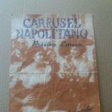 Cine: CARRUSEL NAPOLITANO DOBLE CON PUBLICIDAD GRAN ALBÉNIZ MÁLAGA. Lote 277159713