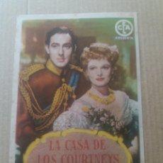 Cine: LA CASA DE LOS COURTNEYS CON PUBLICIDAD CINE ECHEGARAY MÁLAGA. Lote 277160528