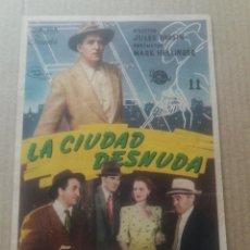 Cine: LA CIUDAD DESNUDA CON PUBLICIDAD TEATRO BELLAS ARTES TARAZONA. Lote 277162263