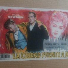 Cine: LA CIUDAD FRENTE A MI CON PUBLICIDAD CINE GOYA ZARAGOZA. Lote 277162868