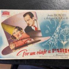 Cine: POR UN VIAJE A PARIS C/P. Lote 277175763