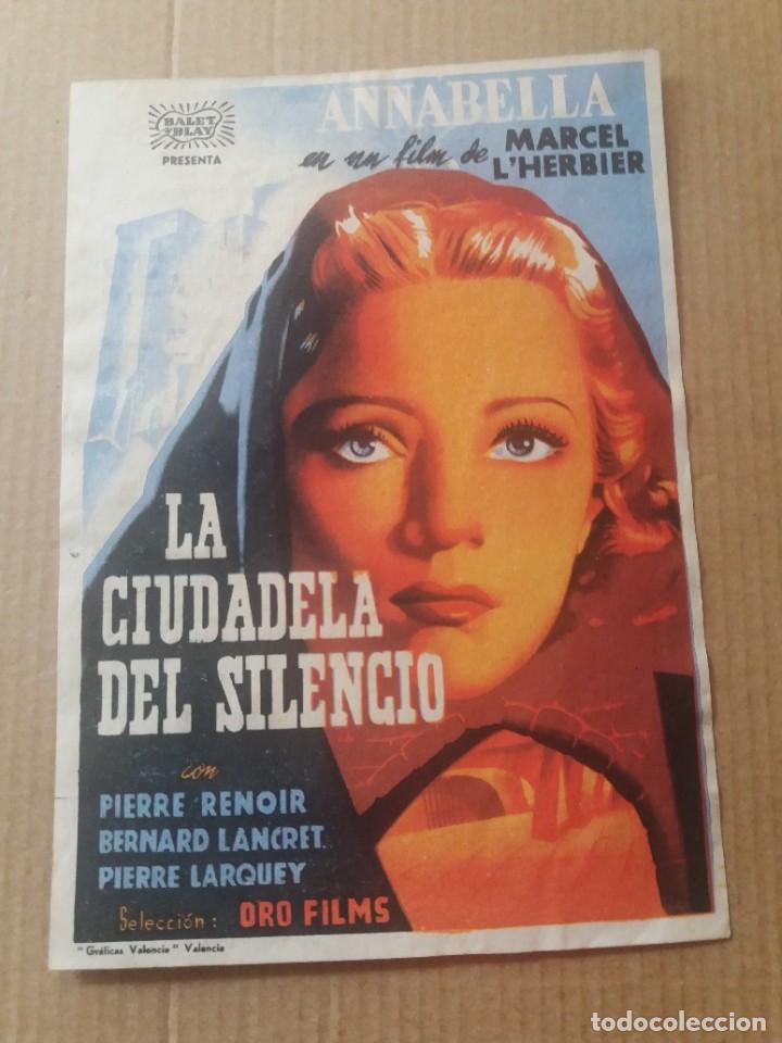 LA CIUDADELA DEL SILENCIO CON PUBLICIDAD CINES ATENEO Y AVANCE SAN FELIU DE LLOBREGAT (Cine - Folletos de Mano - Drama)