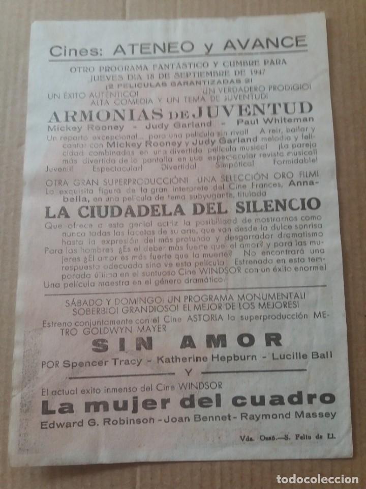 Cine: La ciudadela del silencio con Publicidad Cines Ateneo y Avance San Feliu de Llobregat - Foto 2 - 277180258