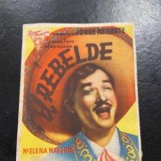Cine: EL REBELDE. Lote 277180328