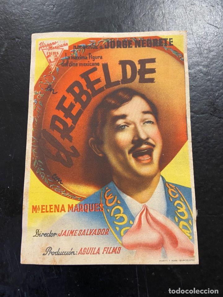 EL REBELDE (Cine - Folletos de Mano - Aventura)