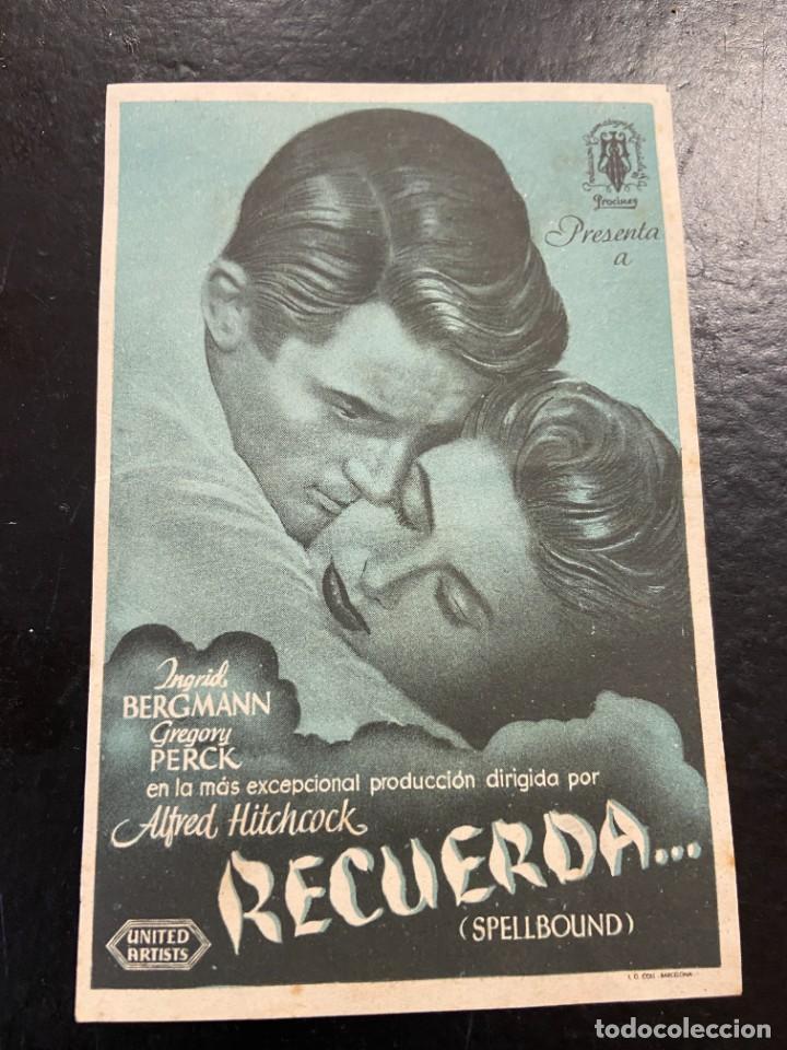 RECUERDA (Cine - Folletos de Mano - Aventura)