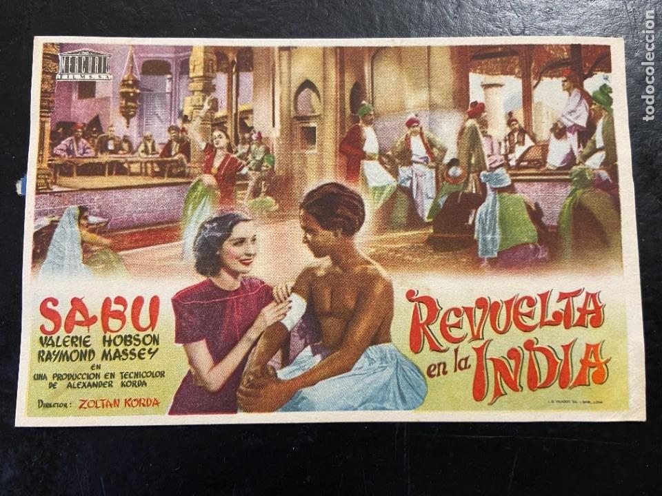 REVUELTA EN LA INDIA (Cine - Folletos de Mano - Aventura)