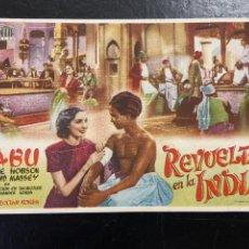 Cine: REVUELTA EN LA INDIA. Lote 277181403