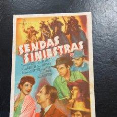 Cine: SENDAS SINIESTRAS C/P. Lote 277187598