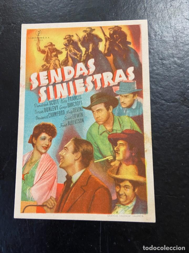 SENDAS SINIESTRAS C/P (Cine - Folletos de Mano - Aventura)
