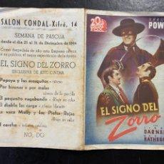 Cine: EL SIGNO DEL ZORRO C/P. Lote 277188198