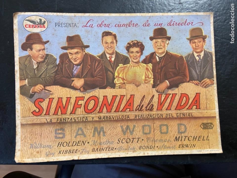 SINFONIA DE LA VIDA C/P (Cine - Folletos de Mano - Aventura)
