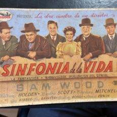 Cine: SINFONIA DE LA VIDA C/P. Lote 277188858