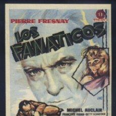 Cine: P-9577- LOS FANÁTICOS (LES FANATIQUES) PIERRE FRESNAY - MICHEL AUCLAIR - FRANÇOISE FABIAN. Lote 277208008