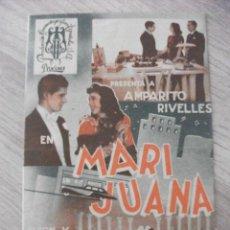Cine: MARI JUANA, AMPARITO RIVELLES, FRONTON CINEMA. Lote 277278588