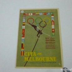 Foglietti di film di film antichi di cinema: CITA EN MELBOURNE- CON PUBLICIDAD - C 10. Lote 277437368