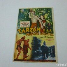 Foglietti di film di film antichi di cinema: TARZAB Y LA FUENTE MAGICA-CON PUBLICIDAD - C 10. Lote 277440083