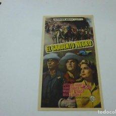 Flyers Publicitaires de films Anciens: EL SARGENTO NEGRO-SIN PUBLICIDAD - C 10. Lote 277442338